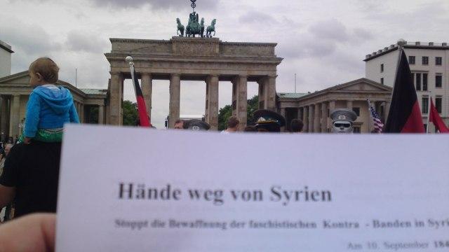 HÄNDE WEG VON SYRIEN !!!
