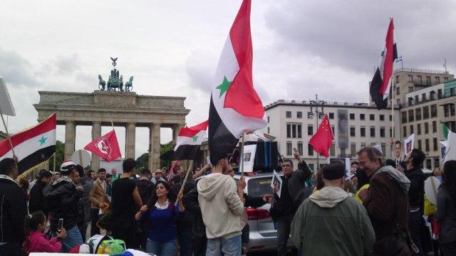 Brandenburger Tor bei schönem Wetter