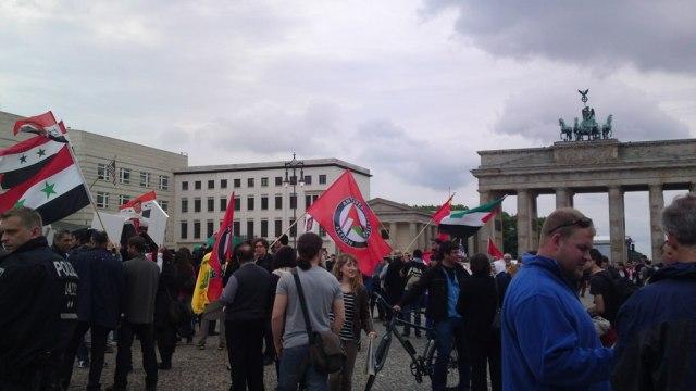 Ankuft am Brandenburger Tor