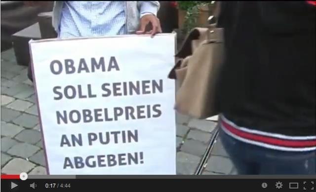 Obama soll seinen Nobelpreis an Putin abgeben