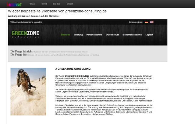 Quelle: http://homment.com/greenzone IMPRESSUM GREENZONE CONSULTING Inh. Ö. Bag  Fruchtallee 136  D-20259 Hamburg www.greenzone-consulting.de  info@greenzone-consulting.de Mobil: +49 152 / 339 056 02 Ansprechpartner: Jan Karras